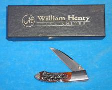 William Henry Lockback with Jigged Bone Handles.  Mint in the Box.  #T16.