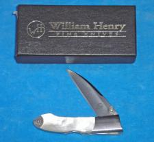 William Henry Lockback with Pearl Handles.  Mint in the Box.  #T17.